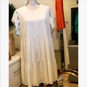 Who What Wear Ivory Babydoll Dress Size XL